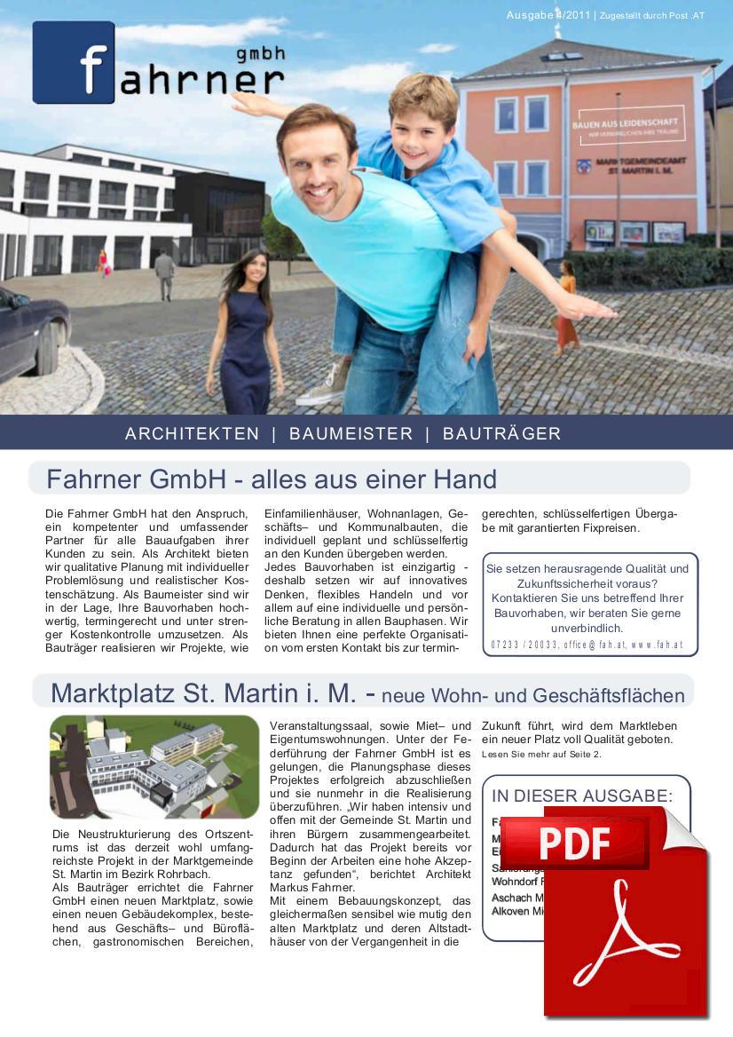 Newsletter April 2011 – Alles aus einer Hand