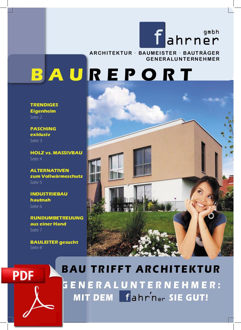 Infobroschüre Baureport 1. Quartal 2015