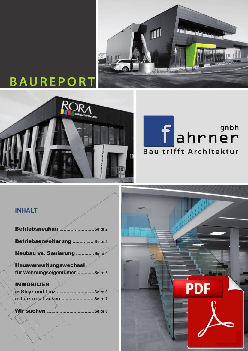 Baureport 1.Quartal 2016