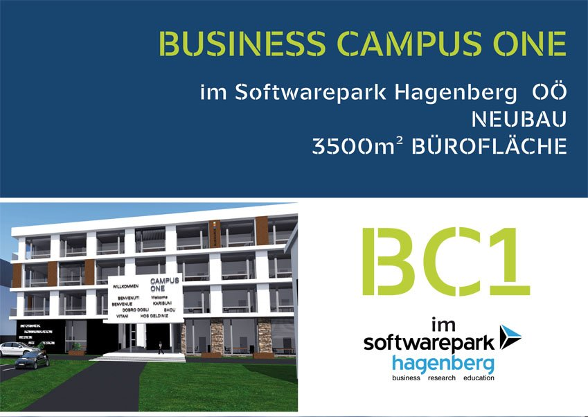 Info-Folder zu Business Campus One in Hagenberg